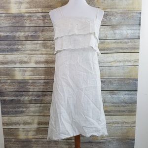 95235c93422 Zara Dresses - NWT Zara White Striped Linen Tank Dress